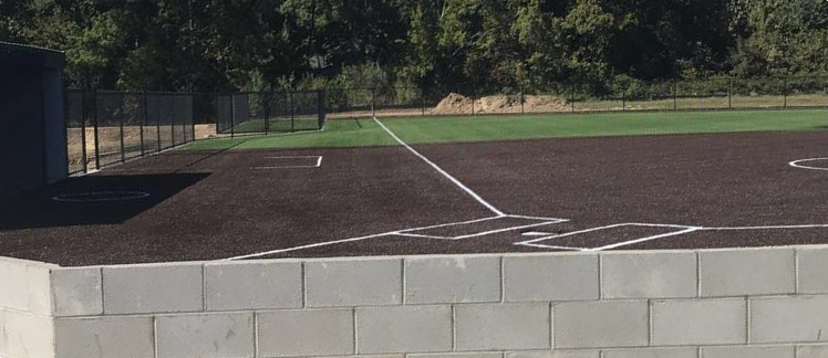 A sneak peek to the new softball field.