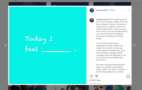 Screenshot of post via @sussexroyal on Instagram